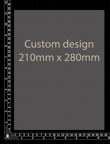 Custom Design 210 x 280mm (Size 5)