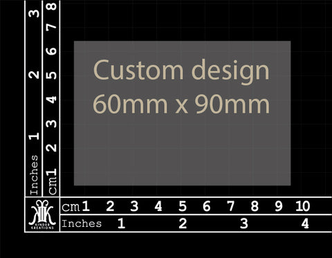 Custom Design 60x90mm (Size 1)