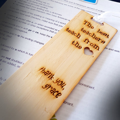 "Limited Edition Bookmark - Personalised Teacher gift ""Grace"""