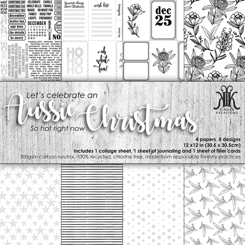 KK1764 Aussie Christmas Patterned Paper Kit