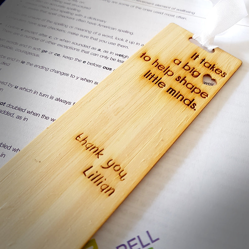 "Bookmark - Personalised Teacher gift ""Lillian"""