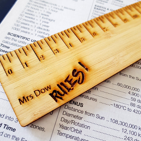 Bookmark - Personalised Name Ruler