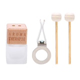 8 ml Frosted Bottle Car Diffuser, Reed sticks and vent clip