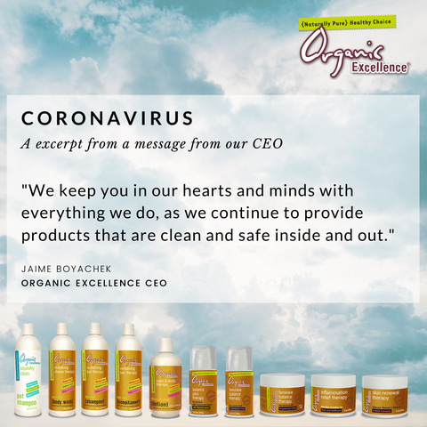 Coronavirus: A message from our CEO