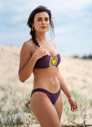 Breakup Bandeau - Plum