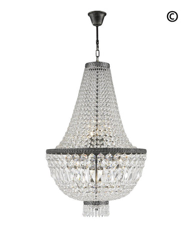 French Basket Chandeliers - Antique Silver - COLLECTION