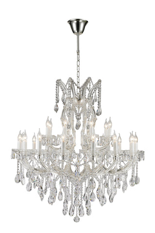 Maria Theresa Chandeliers - Silver Plated