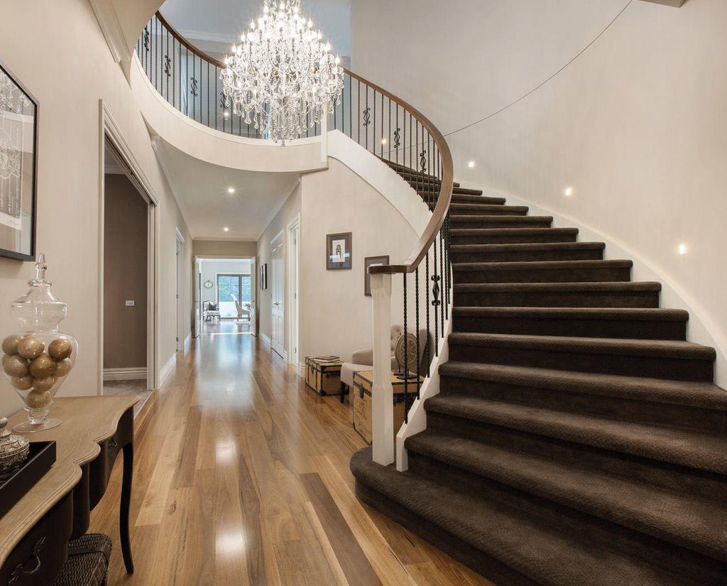 Between The Ceiling At Top Of Landing Then Minus 220cm Off Your Measurement And That Will Give You Perfect Height For Chandelier To Hang