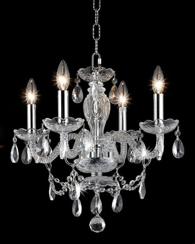 Le Boheme 4 Arm Crystal Chandelier- CHROME