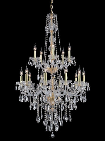 Bohemian Elegance 15 Light Crystal Chandelier- GOLD-Designer Chandelier Australia