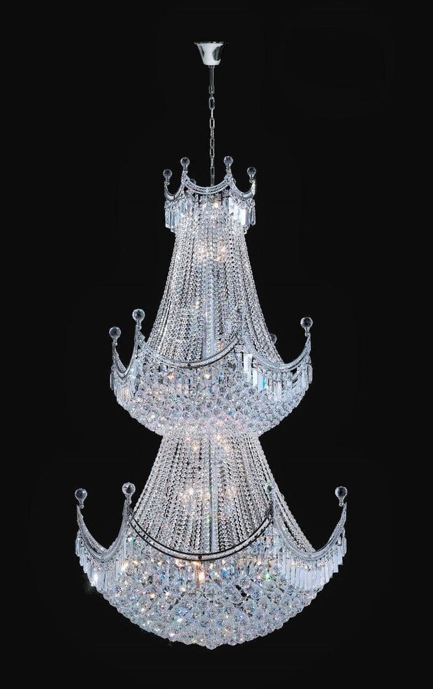 Royal Empire Staircase Basket Chandelier - CHROME -  W:90cm - Designer Chandelier