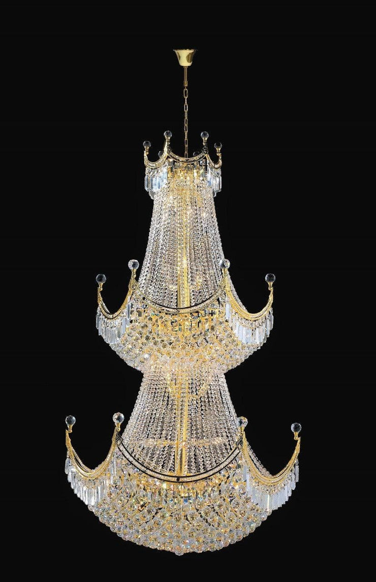Royal Empire Staircase Basket Chandelier - GOLD -  W:90cm - Designer Chandelier