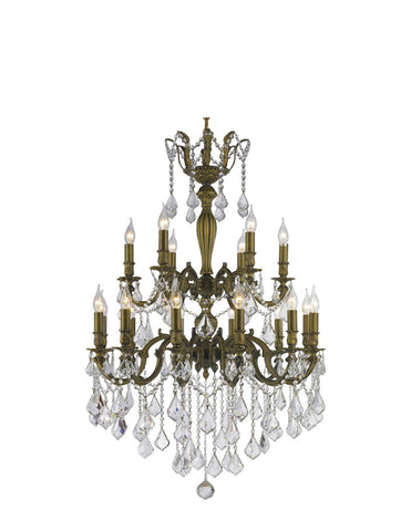 AMERICANA 18 Light Crystal Chandelier - Antique Bronze Style - Designer Chandelier  AMERICANA 18 Light Crystal Chandelier - Antique Bronze Style - Designer Chandelier