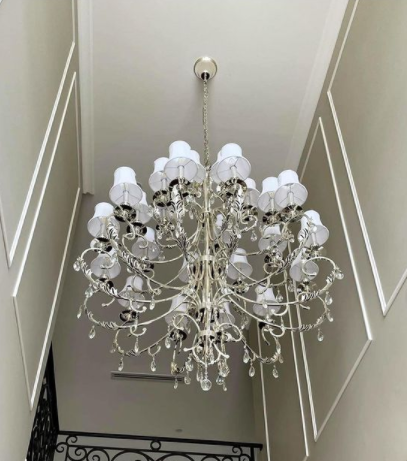 ARIA - Hampton 24 Arm Chandelier - Silver Plated