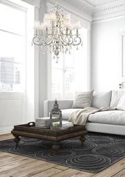 ARIA - Hampton 12 Arm Chandelier - Silver Plated