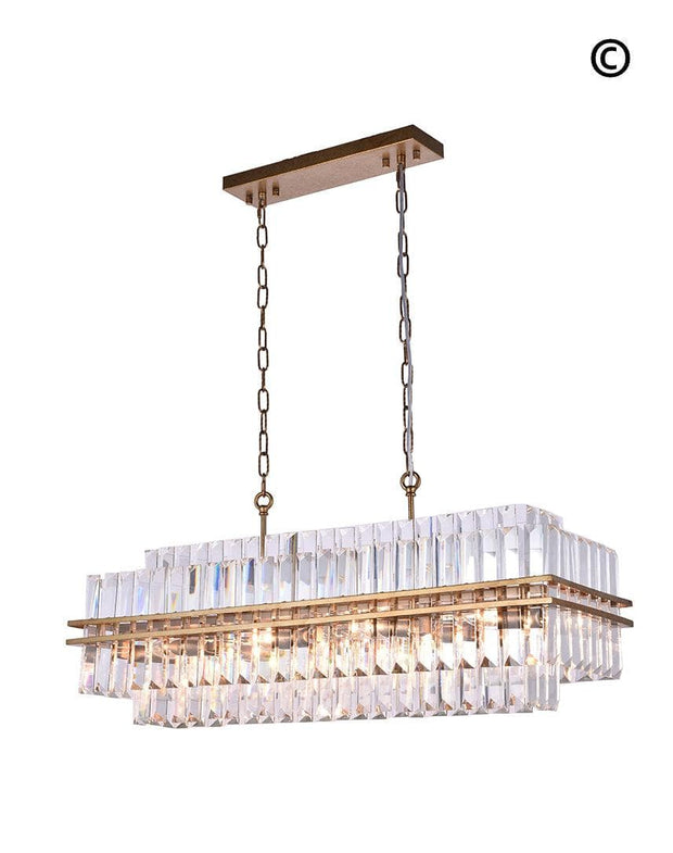 Ashton Collection - 90 cm Bar Light - Antique Gold Finish - Designer Chandelier