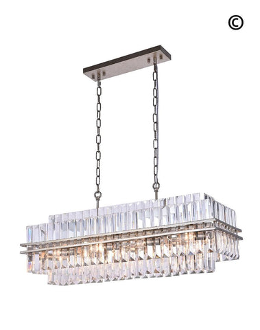 Ashton Collection - 90 cm Bar Light - Champagne Finish - Designer Chandelier