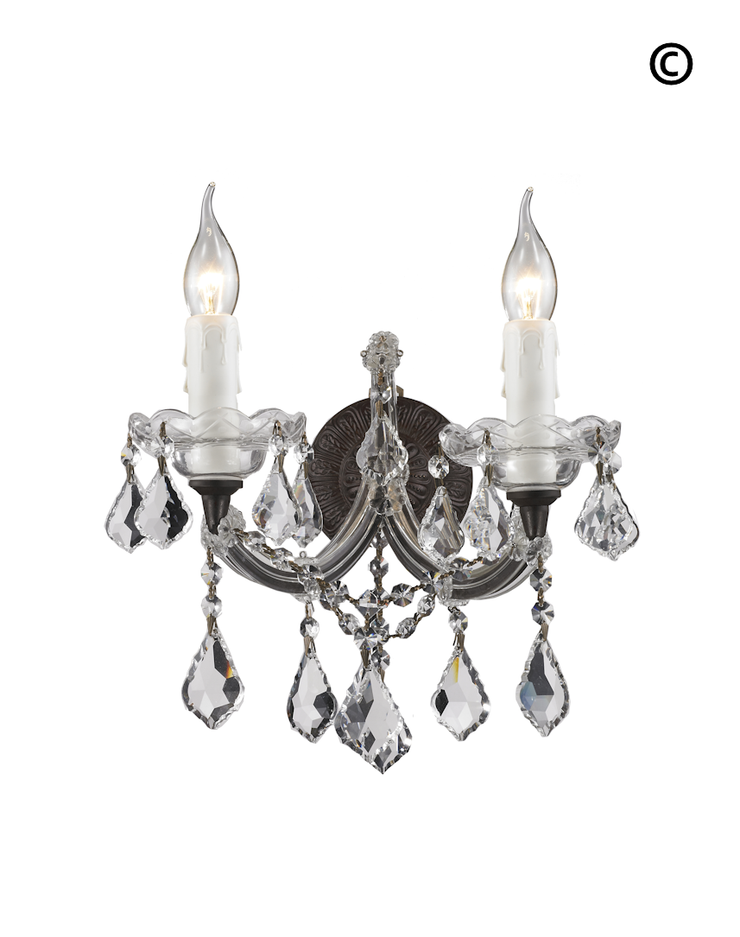Double Maria Theresa Wall Light Sconce - RUSTIC - Designer Chandelier