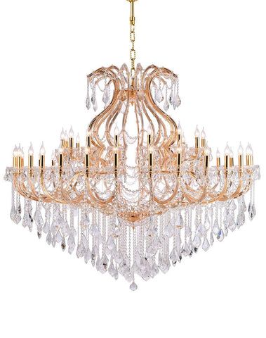 Maria Theresa Crystal Chandelier 48 Light- GOLD - Designer Chandelier