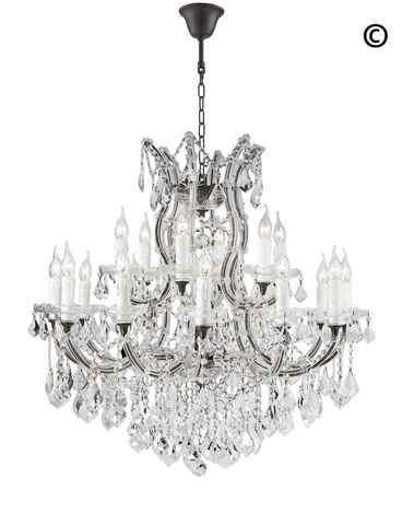 Maria Theresa Crystal Chandelier Grande 19 Light - RUSTIC
