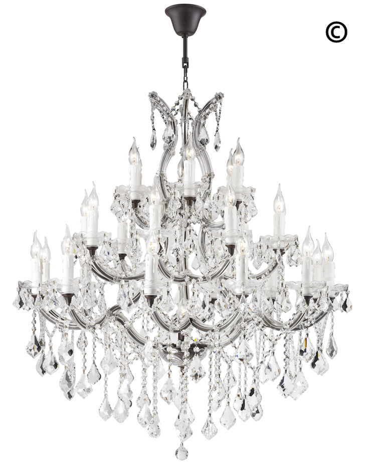Maria Theresa Crystal Chandelier Grande 28 Light - RUSTIC - Designer Chandelier
