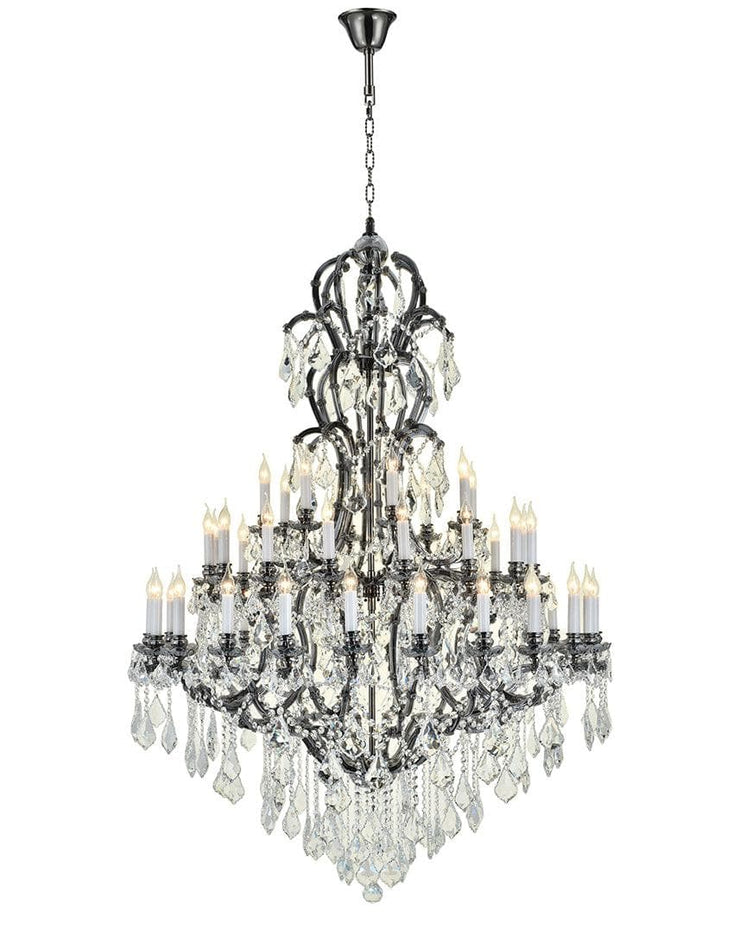 Maria Theresa Crystal Chandelier Royal 48 Light - Smoke Finish