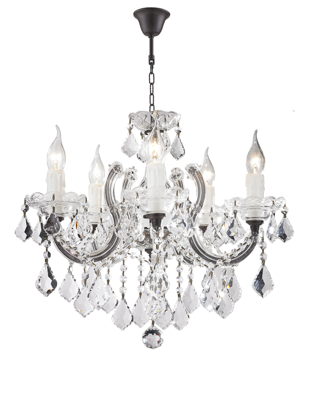 Maria Theresa 5 Light Crystal Chandelier - RUSTIC - Designer Chandelier