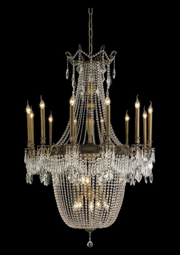 Regency Basket Chandelier -  Antique Bronze Style - W:100cm - Designer Chandelier