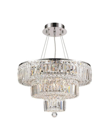 Modular 3 Tier Crystal Pendant Light - CHROME-Designer Chandelier Australia