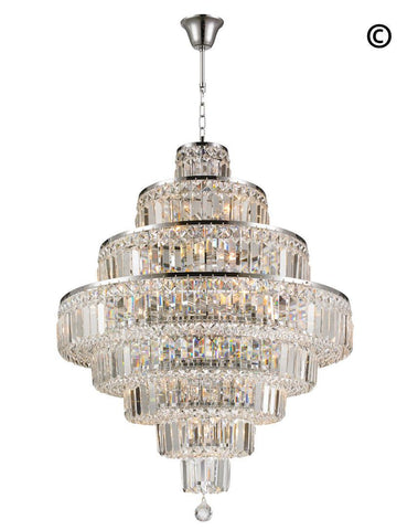 Modular 8 Tier Crystal Pendant Light - CHROME-Designer Chandelier Australia
