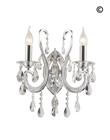 Designer Princess Wall Sconce - Double Arm - Designer Chandelier  Designer Princess Wall Sconce - Double Arm - Designer Chandelier