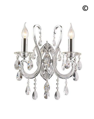 NewYork Princess Wall Sconce - Double Arm - Designer Chandelier  NewYork Princess Wall Sconce - Double Arm - Designer Chandelier