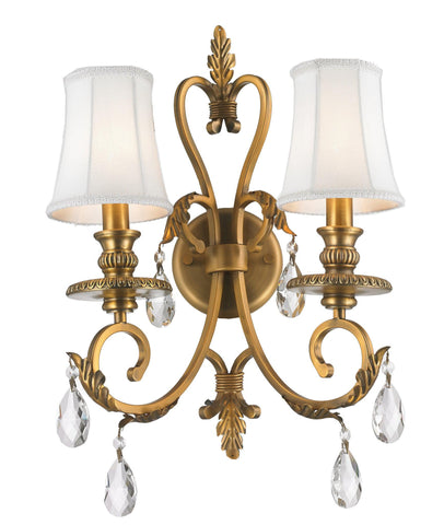 ARIA - Hampton Double Arm Wall Sconce - Brass - Designer Chandelier