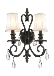 ARIA - Hampton Double Arm Wall Sconce - Dark Bronze - Designer Chandelier