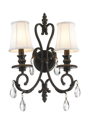 ARIA - Hampton Double Arm Wall Sconce - Dark Bronze - Designer Chandelier  ARIA - Hampton Double Arm Wall Sconce - Dark Bronze - Designer Chandelier