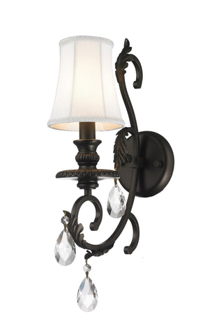 ARIA - Hampton Single Arm Wall Sconce - Dark Bronze - Designer Chandelier  ARIA - Hampton Single Arm Wall Sconce - Dark Bronze - Designer Chandelier