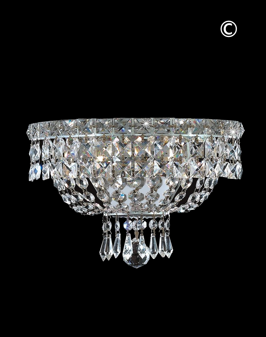 with white sconce crystals chandelier antique wall metal polished hand