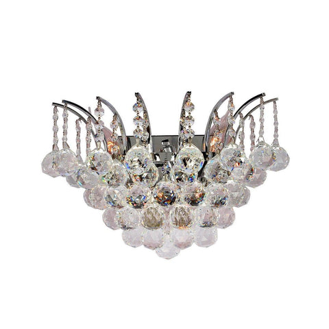 Cascading Empress Wall Sconce - Chrome - W:40cm - Designer Chandelier