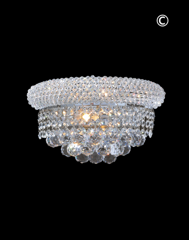 Royal Empress Wall Sconce - Chrome - 30cm - Designer Chandelier