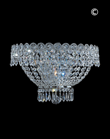 Empire Wall Sconce Light - CHROME - W:40cm - Designer Chandelier
