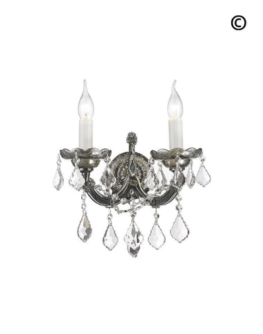 Double Maria Theresa Wall Light Sconce - Smoke