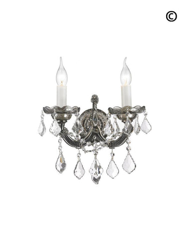 Double Maria Theresa Wall Light Sconce - Smoke - Designer Chandelier
