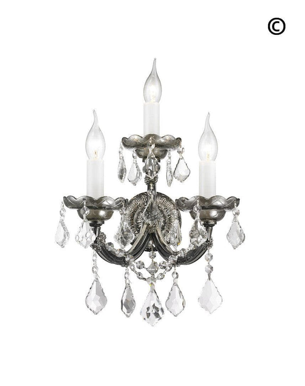 Triple Maria Theresa Wall Light Sconce -Smoke - Designer Chandelier