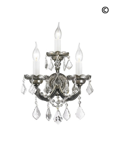 Triple Maria Theresa Wall Light Sconce -Smoke