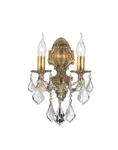 AMERICANA 2 Light Wall Sconce - Victorian - Brass Finish - Designer Chandelier  AMERICANA 2 Light Wall Sconce - Victorian - Brass Finish - Designer Chandelier
