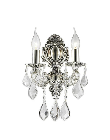 AMERICANA 2 Light Wall Sconce - Victorian - Silver Plated - Designer Chandelier  AMERICANA 2 Light Wall Sconce - Victorian - Silver Plated - Designer Chandelier