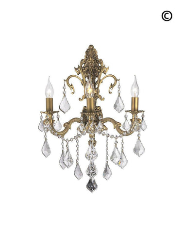Wall sconce designer chandelier australia americana 3 light wall sconce brass finish designer chandelier americana 3 light wall sconce aloadofball Image collections