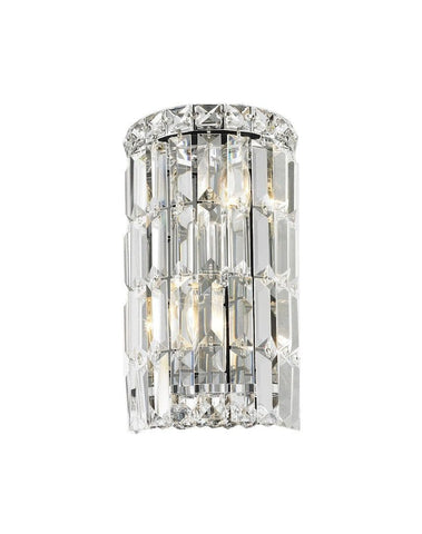 Modular Wall Sconce Light - Round - CHROME - Designer Chandelier