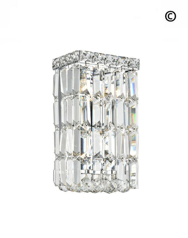 Modular Wall Sconce Light - Rectangle - CHROME - Designer Chandelier