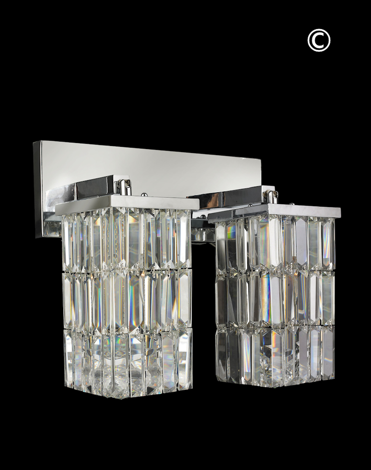 Modena Double Arm Wall Sconce - Rectangle - Designer Chandelier